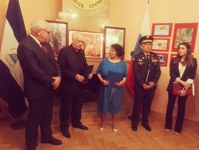 Celebratory reception at the Embassy of Nicaragua